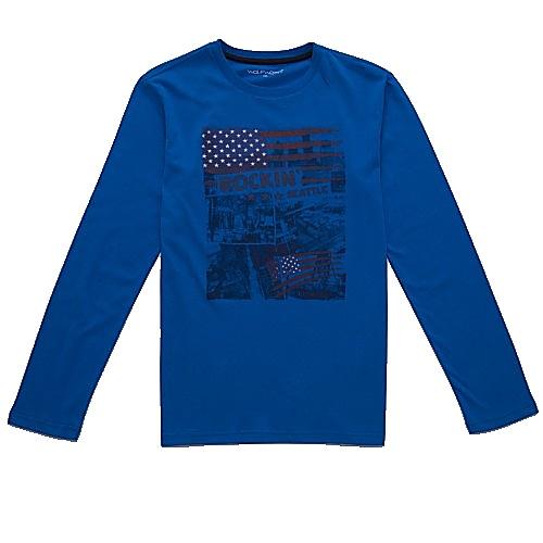 Dětské chlapecké triko dlouhý rukáv Wolf S2733 modré, vel. 158