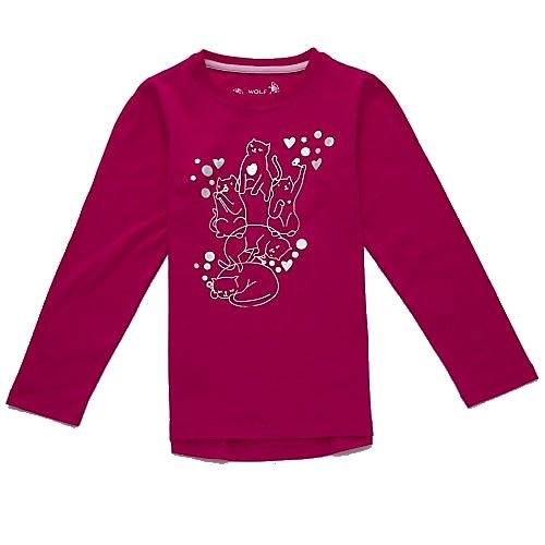 Dětské dívčí tričko dlouhý rukáv Wolf S2741 tmavě růžové, vel. 122