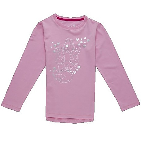 Dětské dívčí tričko dlouhý rukáv Wolf S2741 světle růžové, vel. 116