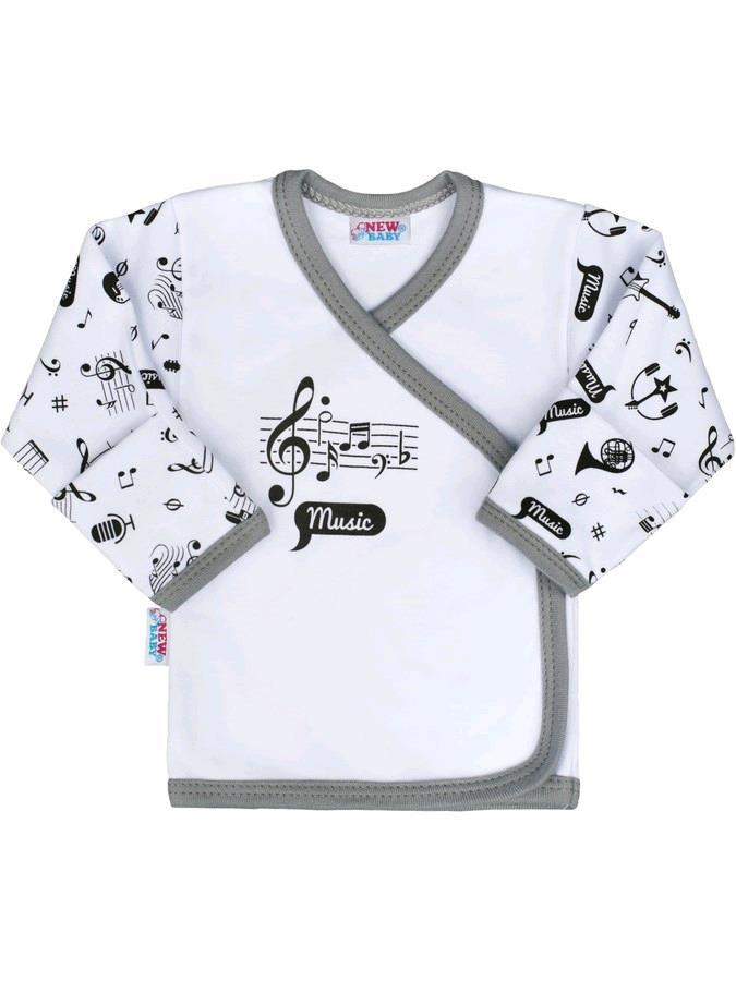 Kojenecká bavlněná košilka New Baby Music, vel. 62