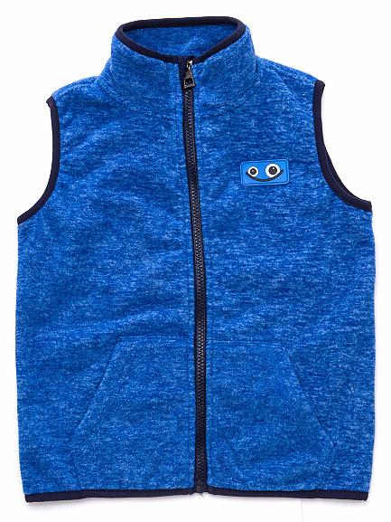 Dětská chlapecká fleecová vesta Wolf B2793 modrá, vel. 128