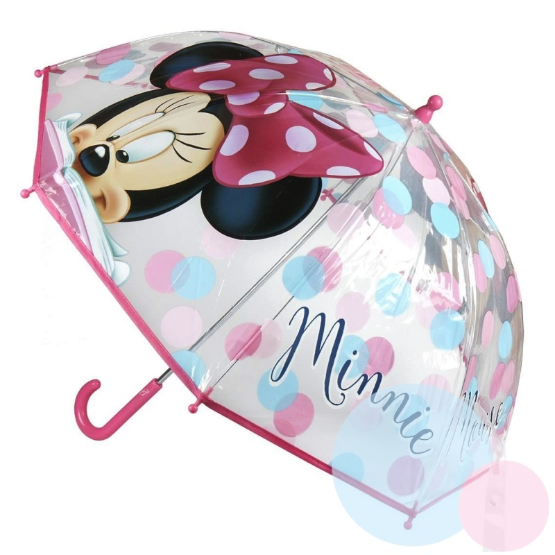 Disney Brand Dětský deštník Minnie malinový