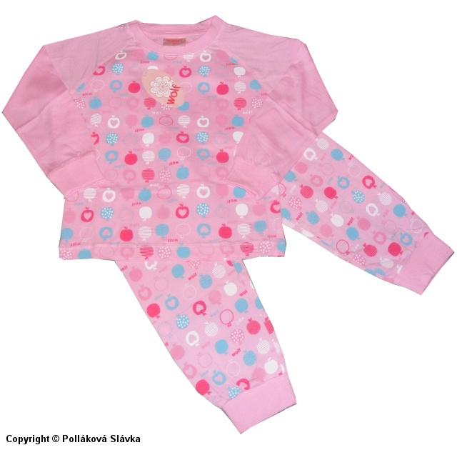 Dětské dívčí pyžamo Wolf S2251 Růžové, vel. 116