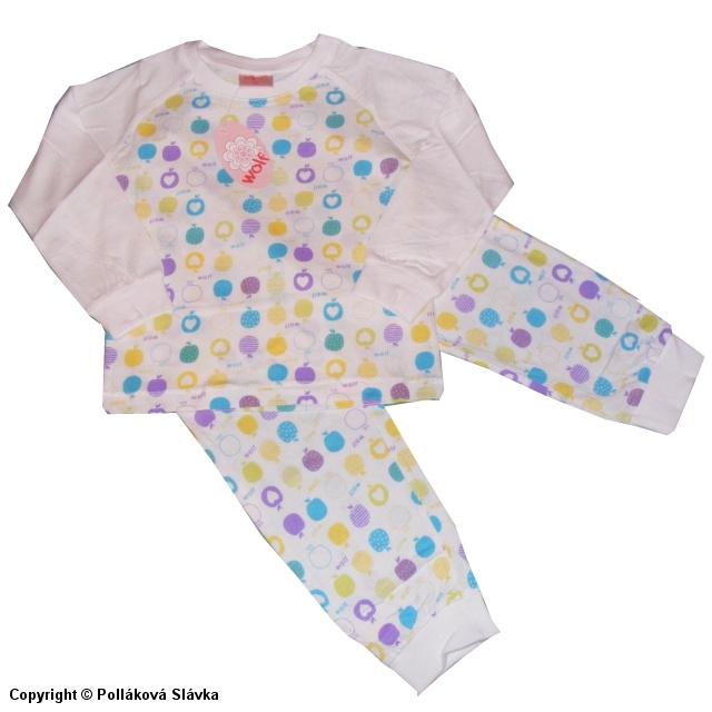 Dětské dívčí pyžamo Wolf S2251 Bílé, vel. 128