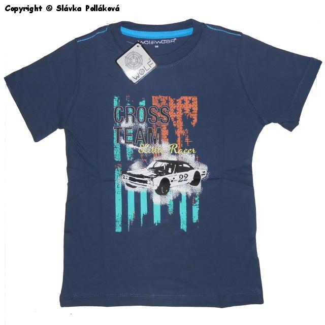 Dětské chlapecké tričko krátký rukáv Wolf S2502 Tmavě modré, vel. 98