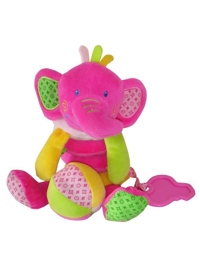 Hračka na postýlku Spirála Baby Mix Slon růžový