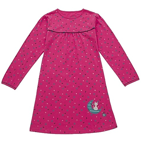 Dětská dívčí noční košile dlouhý rukáv Wolf S2759 tmavě růžová, vel. 128