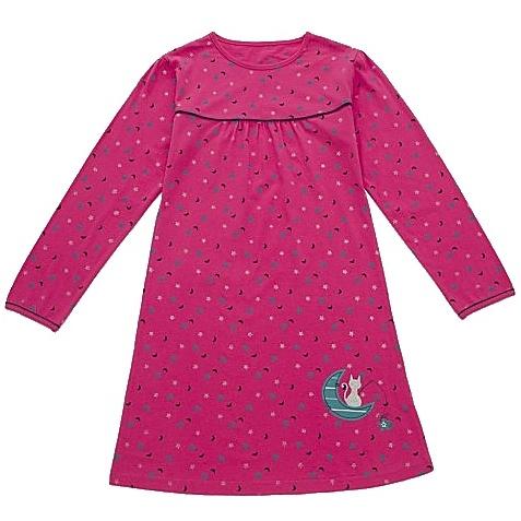 Dětská dívčí noční košile dlouhý rukáv Wolf S2759 tmavě růžová, vel. 104