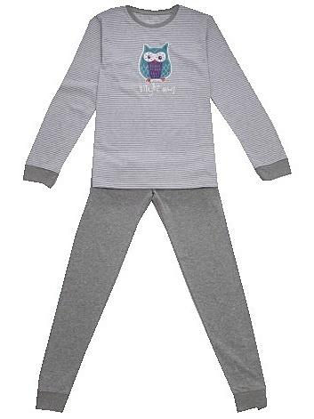 Dětské dívčí pyžamo Wolf S2753B šedé, vel. 140