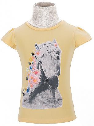 Dětské dívčí tričko krátký rukáv Wolf S2611 Žluté, vel. 122