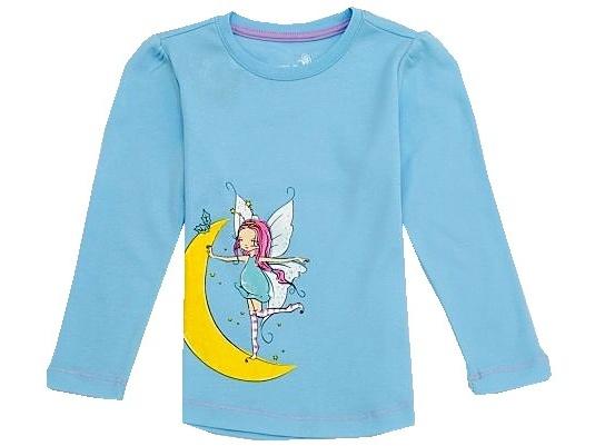 Dětské dívčí tričko dlouhý rukáv Wolf S2744 modré, vel. 128