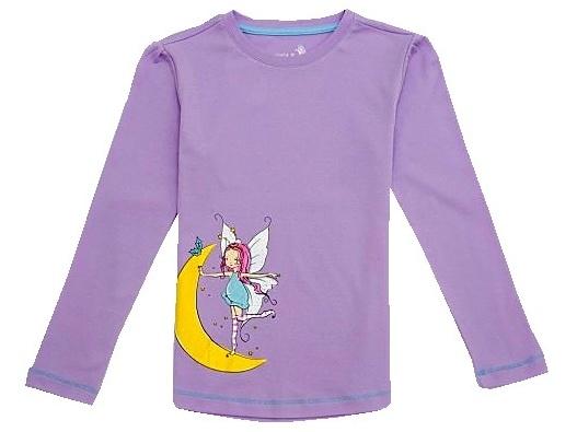 Dětské dívčí tričko dlouhý rukáv Wolf S2744 fialové, vel. 110