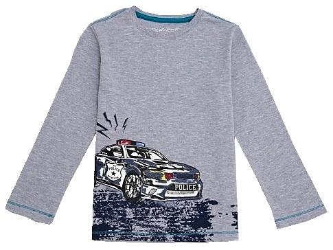 Dětské chlapecké tričko dlouhý rukáv Wolf S2734 šedé, vel. 110