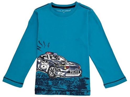 Dětské chlapecké tričko dlouhý rukáv Wolf S2734 petrolejové, vel. 122