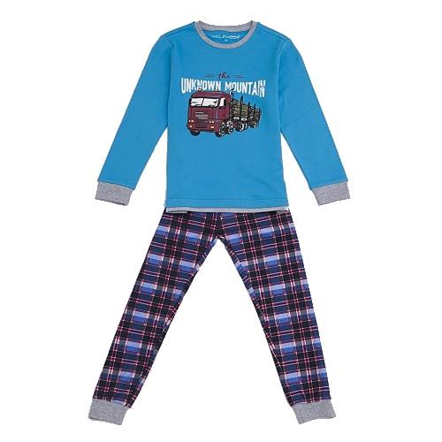 Dětské chlapecké pyžamo silné Wolf S2765 modré, vel. 110