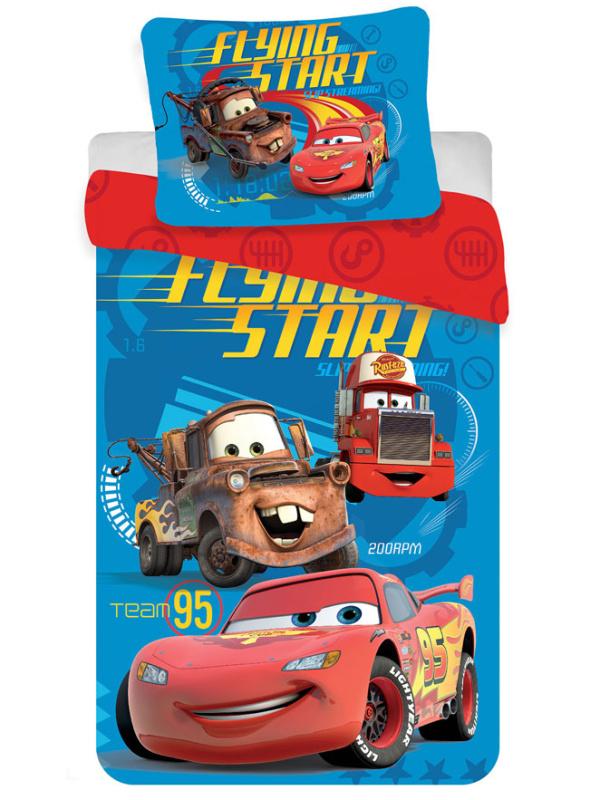 Jerry Fabrics Dětské povlečení Cars 2016 micro 140x200 + 70x90 cm