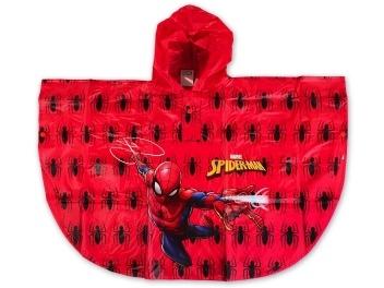 Dětská chlapecká pláštěnka - pončo Setino 750-144 Spiderman červená