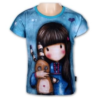 Dívčí tričko Setino 962-221 Santoro London Gorjuss modré
