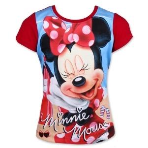 Dětské dívčí tričko Setino Minnie Mouse červené