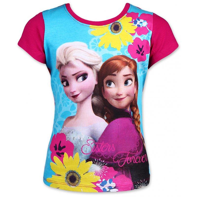 Dětské dívčí tričko Setino Frozen tyrkysové