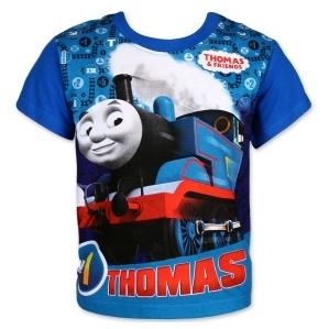 Dětské chlapecké tričko Setino 962-386 Mašinka Tomáš modré