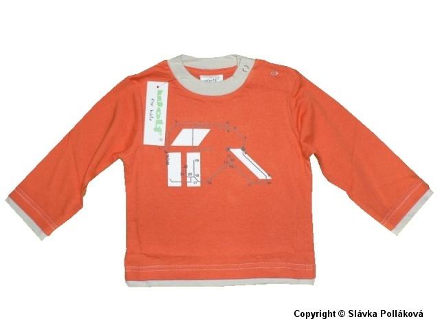 Kojenecké chlapecké triko dlouhý rukáv Wolf S2939 Oranžové, vel. 74