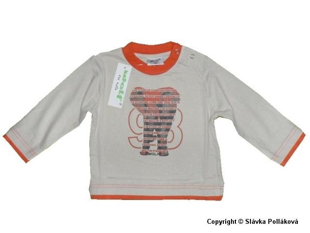 Kojenecké chlapecké triko dlouhý rukáv Wolf S2939 Béžové, vel. 80