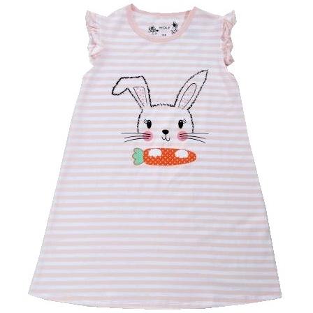 Dětské dívčí šaty Wolf S2818 světle růžovo-bílé
