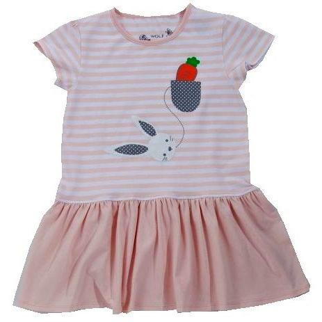 Dětské dívčí šaty Wolf S2817 světle růžové
