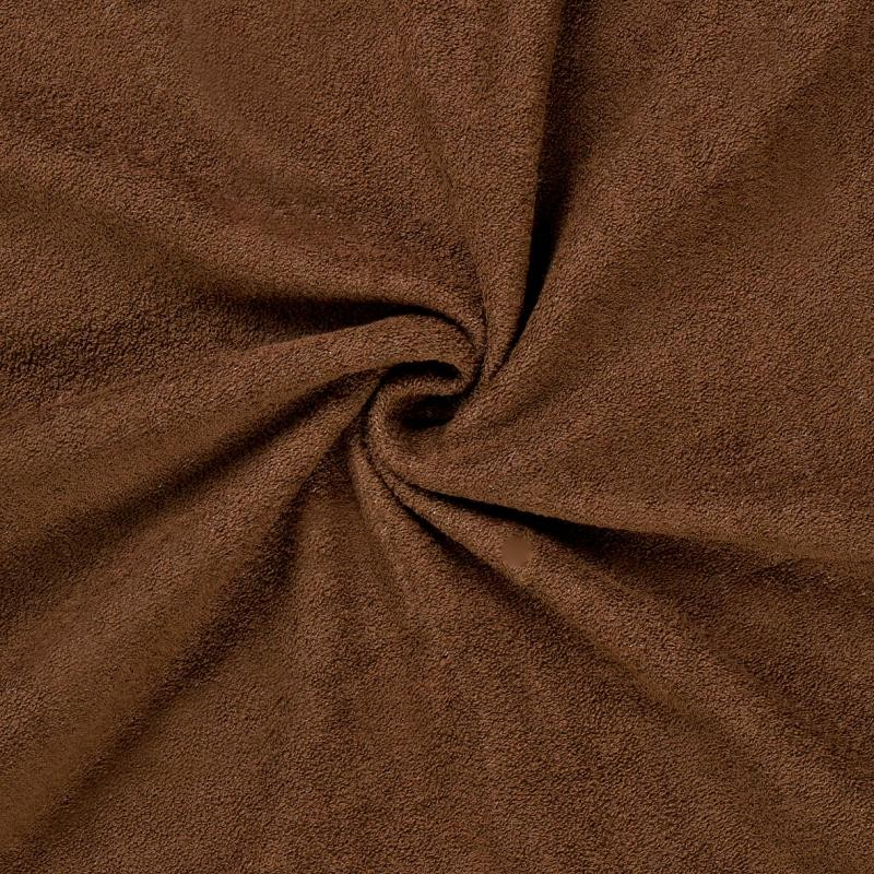 Brotex Písek Froté prostěradlo 90x200 cm, tmavě hnědé