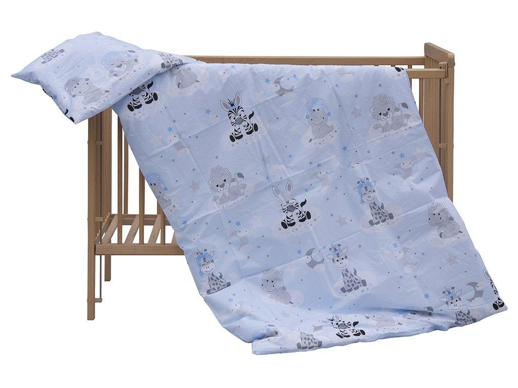Souprava do postýlky 2dílná Scarlett Zebra modrá 100x135 cm
