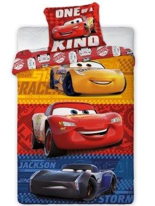 Faro Dětské povlečení Auta-Cars 3 018 bavlna 140x200 + 70x90 cm