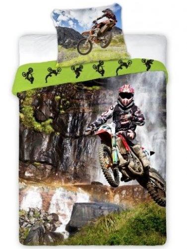 Faro Povlečení Motocross bavlna 140x200 + 70x90 cm
