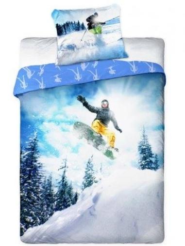 Faro Povlečení Snowboarding bavlna 140x200 + 70x90 cm