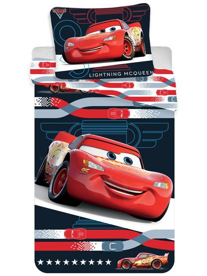 Jerry Fabrics Dětské povlečení Cars 3 McQueen micro 140x200 + 70x90 cm