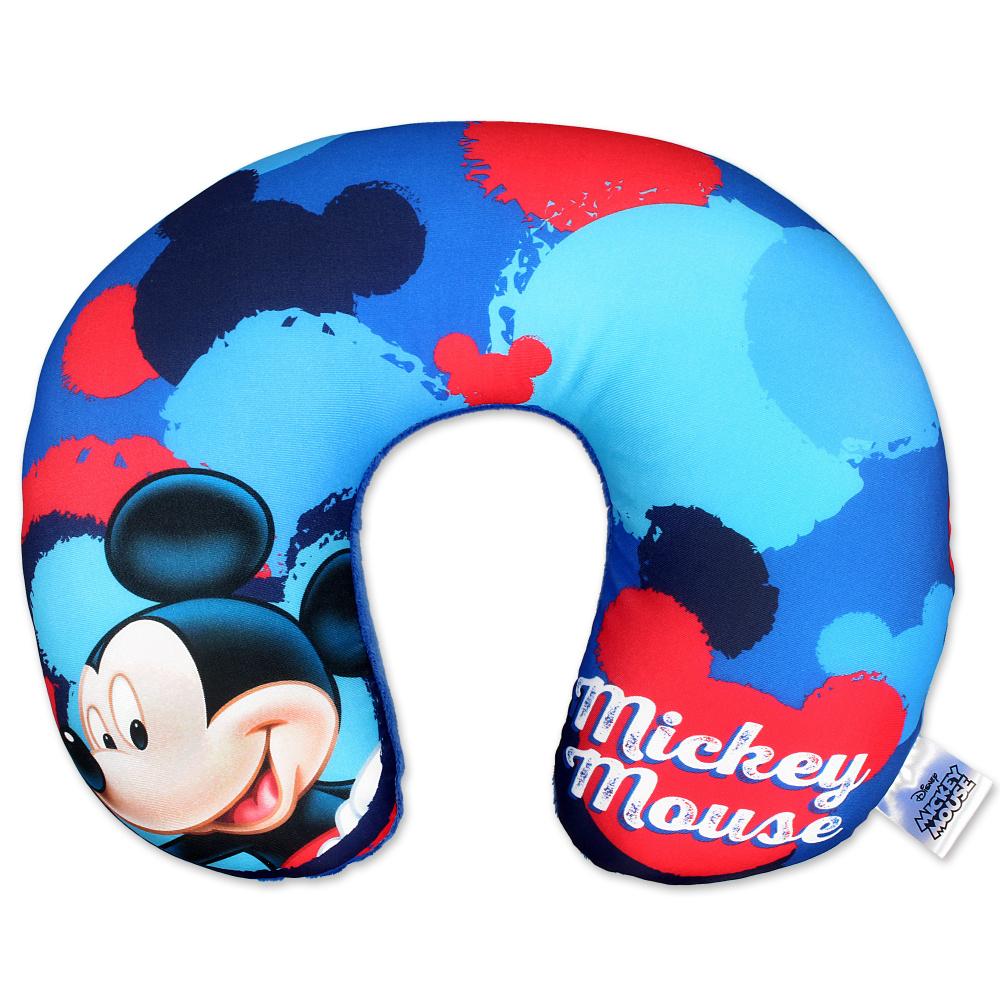 Dětský cestovní polštářek Setino Mickey 40 31x26x8 cm