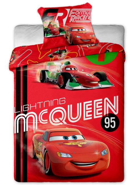 Jerry fabrics Povlečení Cars micro červená polyester 140x200 + 70x90 cm