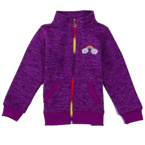 Dětská dívčí jarní outdoorová mikina Wolf B2821 fialová