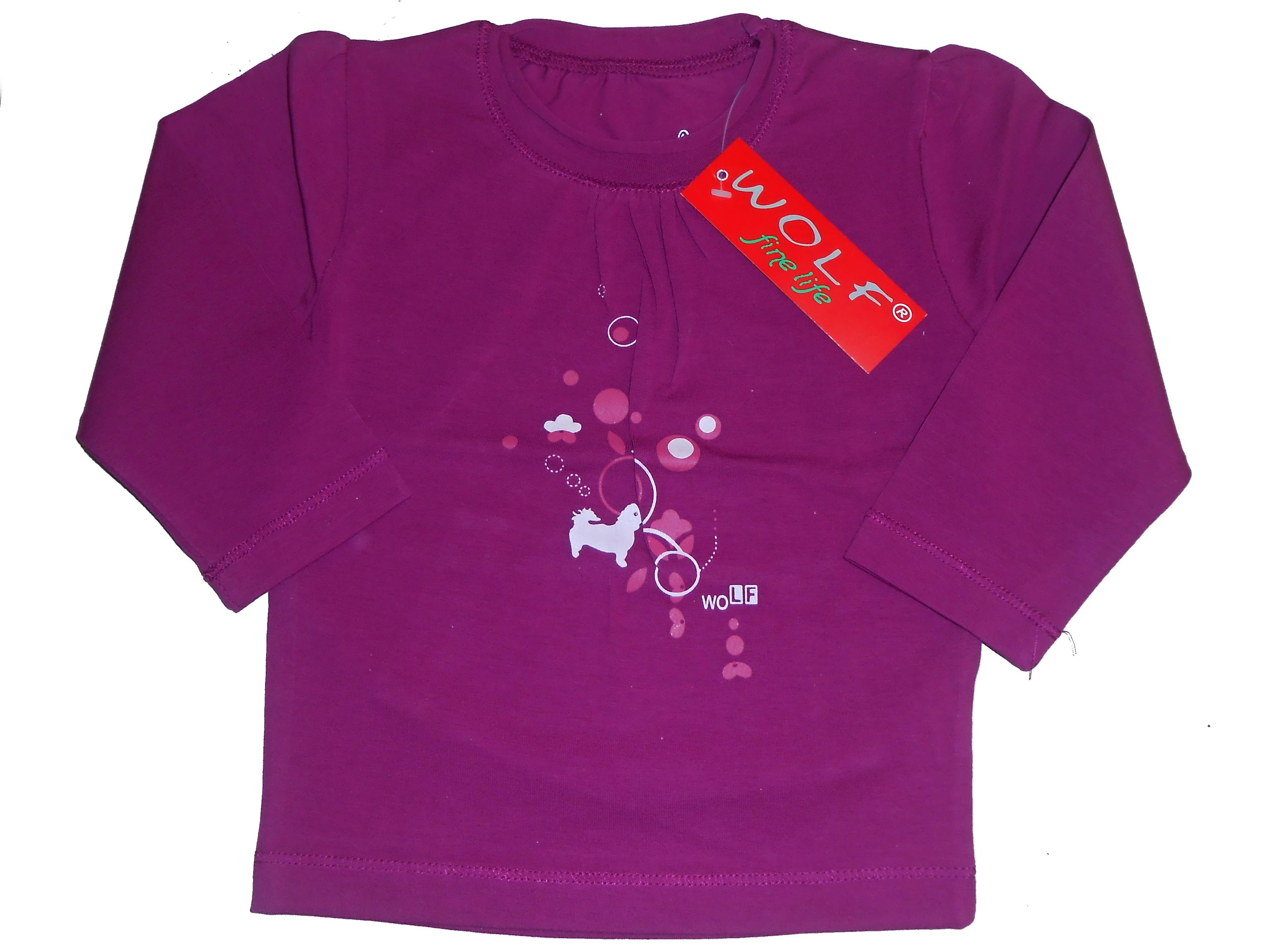 Dětské dívčí triko dlouhý rukáv Wolf S2933 vínové