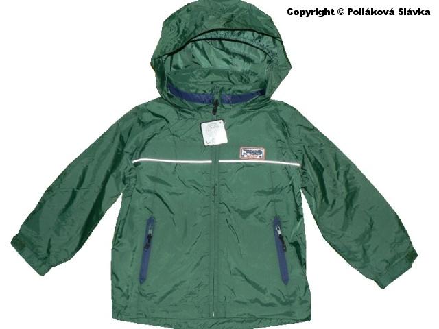 Dětská chlapecká šusťáková bunda Wolf B2265 Zelená, vel. 104