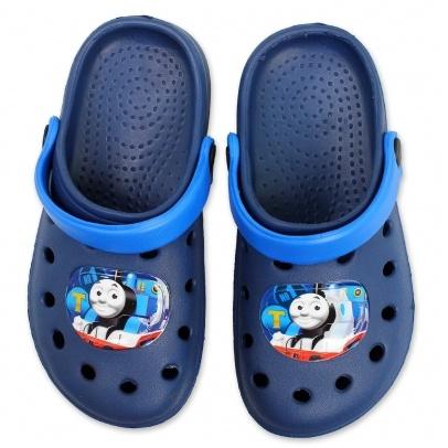 Dětské pantofle crocs Setino 870-370 Mašinka Tomáš tm. modrá