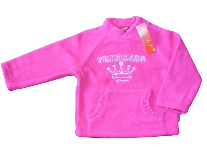 Dětská dívčí fleecová mikina Wolf B2091 růžová
