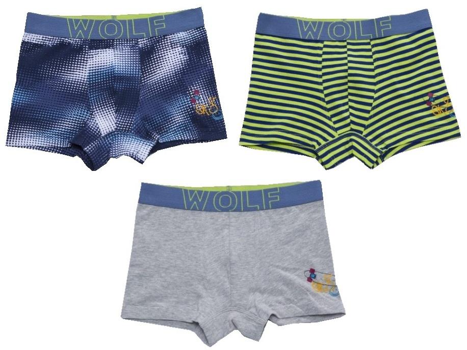 Dětské chlapecké boxerky 3 ks Wolf L2881B