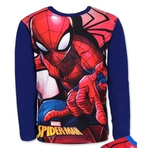Dětské chlapecké tričko dlouhý rukáv Setino Spiderman tm. modrá