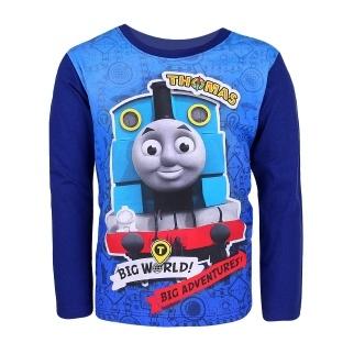 Chlapecké tričko dlouhý rukáv Setino 962-469 Mašinka Tomáš tm. modrá