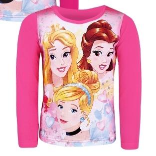 Dětské dívčí tričko dlouhý rukáv Setino Princezny sv. růžová
