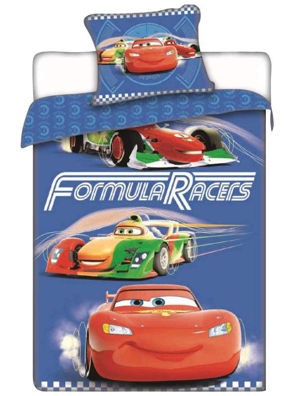 Jerry Fabrics Dětské povlečení Cars Racers bavlna 140x200 + 70x90 cm