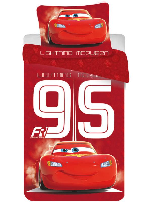 Jerry Fabrics Dětské povlečení Cars 95 red bavlna 140x200 + 70x90 cm