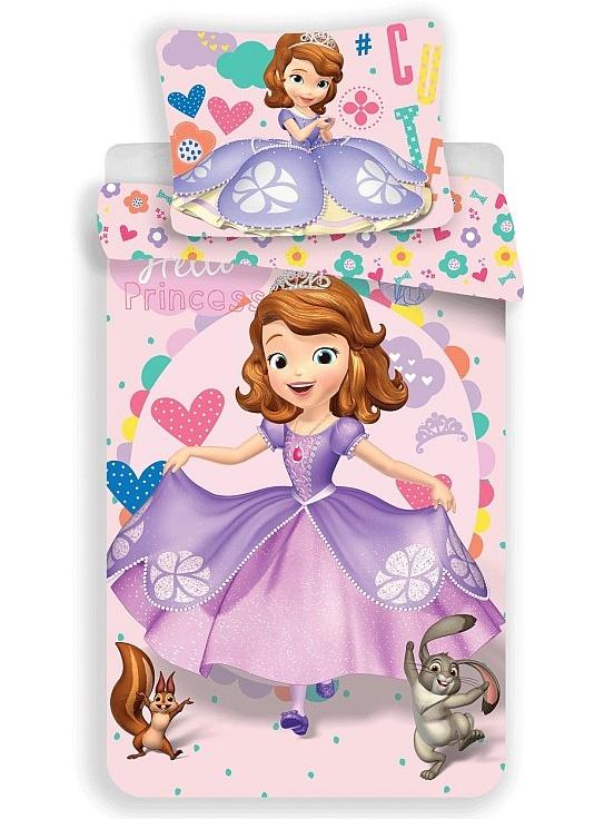 Jerry Fabrics Dětské povlečení Princezna Sofie první 007b bavlna 140x200 + 70x90 cm