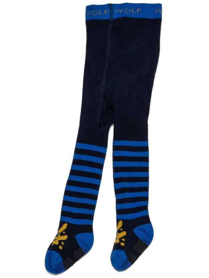 Dětské punčocháče Wolf P2810 s protiskluzem tmavě modrá